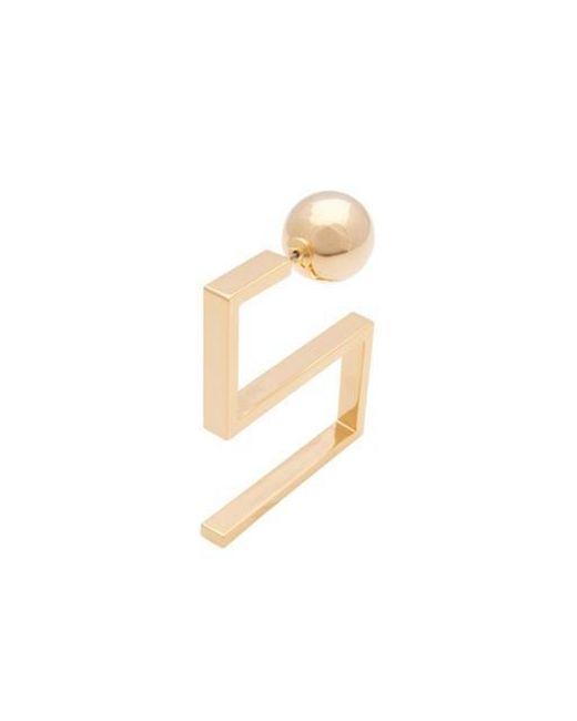 VIOLLINA - Metallic Hanguel Alphabet Front Back Single Earring - Lyst