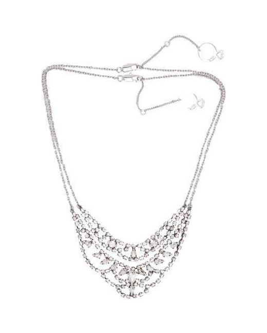 VIOLLINA - Metallic Another V Stone Statement Necklace Set - Lyst