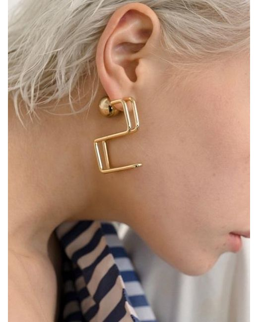 VIOLLINA - Metallic Hanguel Alphabet Single Earring-2 Gold - Lyst