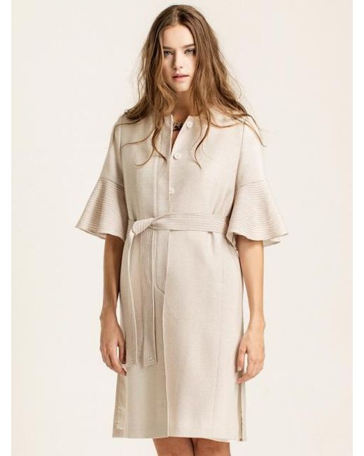 W Concept | White [wxo] Trumpet Sleeves Stitched Trench | Lyst