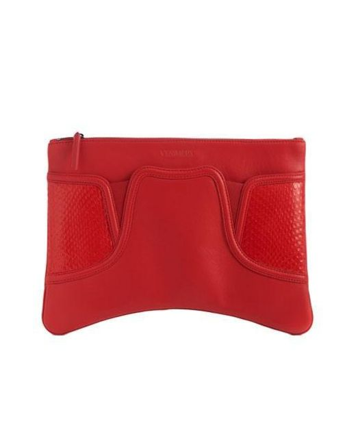 W Concept - Red Slip-on Clutch - Lyst