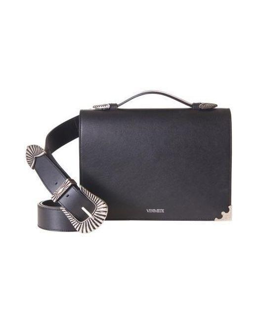 W Concept - Antique Flip Bag Black - Lyst