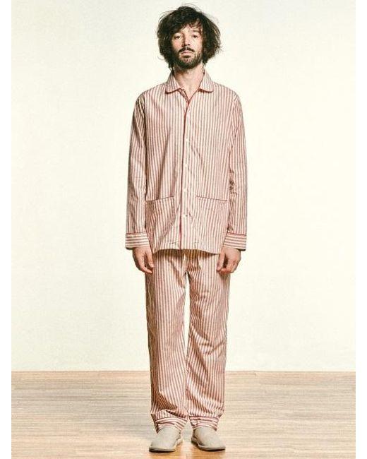 MONOPISPA - Pink Oliver Pj Set Rustic Tomato Stripe for Men - Lyst ... aabce214a