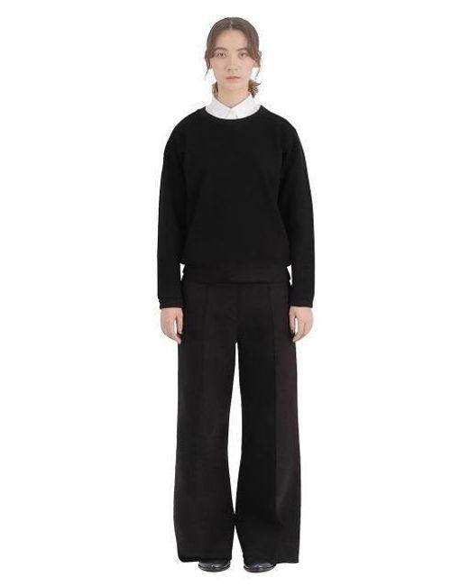 AECA WHITE - Cotton Neoprene Crop Pants Black - Lyst