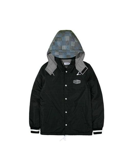 W Concept - Reflective Hooded Coach Jacket Black for Men - Lyst