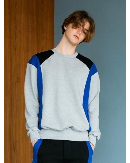 BONNIE&BLANCHE - Sporty Line Sweatshirt Gray - Lyst