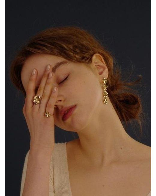 FLOWOOM - Metallic Daisy Long Earring 1 Piece - Lyst