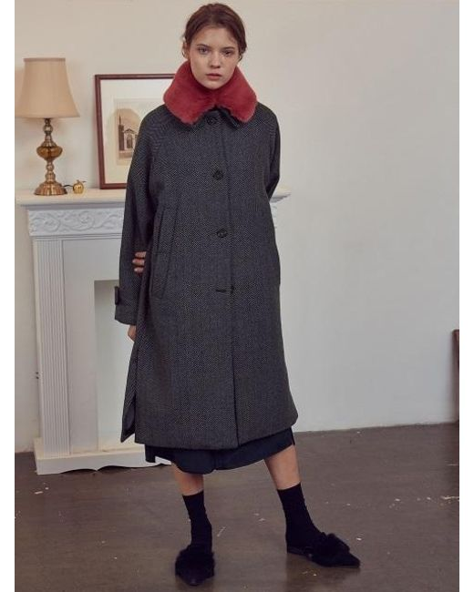 W Concept - A Herringbone Single Coat_gray - Lyst