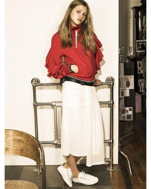 OUAHSOMMET - White Multi-length Pleats Skirt_wh - Lyst