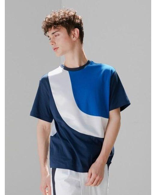 BONNIE&BLANCHE - Blue Metallic Flow T-shirt Navy for Men - Lyst