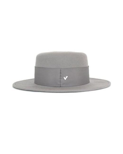 d5f7c1f4672 ... AWESOME NEEDS - Gray Lambs Wool Boater Hat grey - Lyst ...