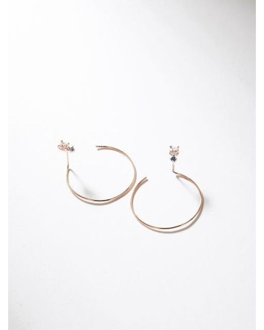 G. TATIANA - Multicolor 14k Fleta Point Hoop Earring - Lyst