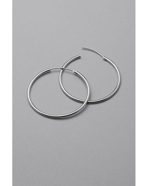 Weekday - Metallic Hoop Earrings - Lyst