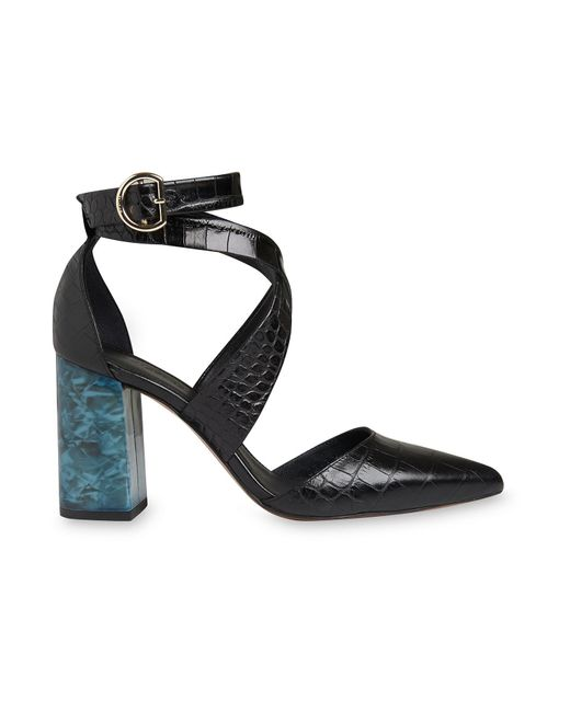 Whistles - Black Taylor Croc Cross Marble Heel - Lyst