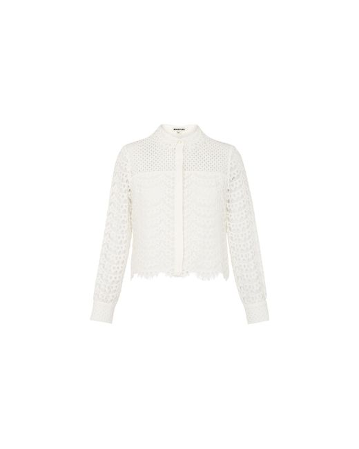 Whistles | White Penny Crop Lace Top | Lyst