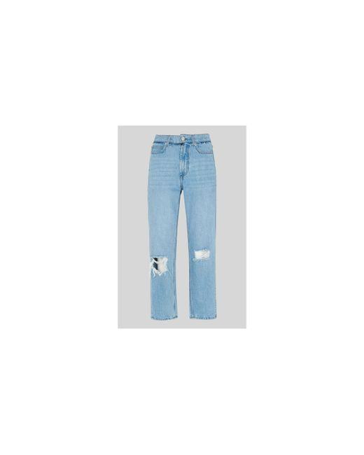 Whistles - Blue Hollie Straight Leg Rigid Jean - Lyst