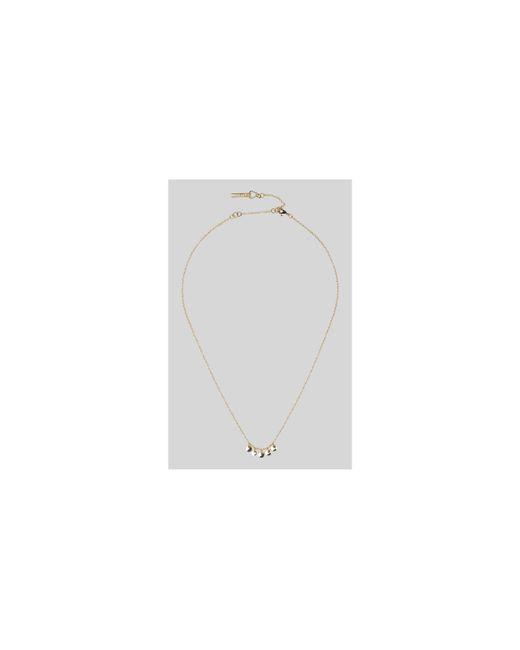 Whistles - Metallic Mini Coin Necklace - Lyst