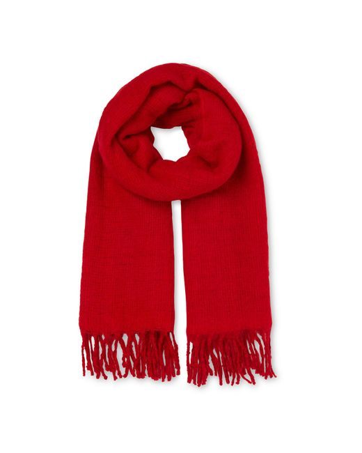 Whistles - Red Open Weave Blanket Scarf - Lyst