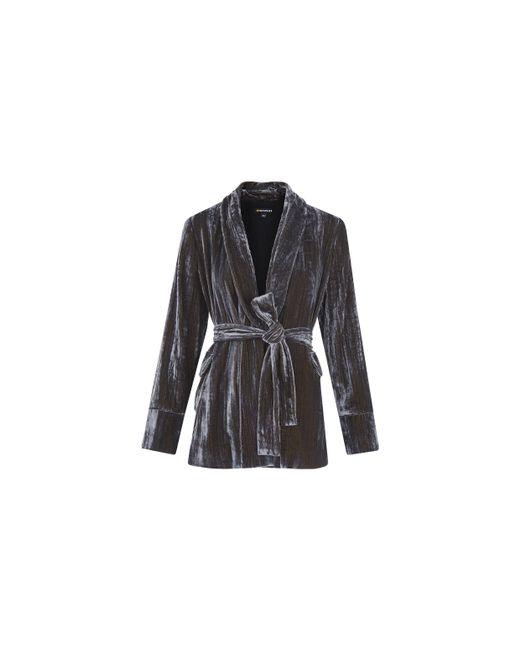 Whistles | Metallic Crushed Velvet Wrap Jacket | Lyst