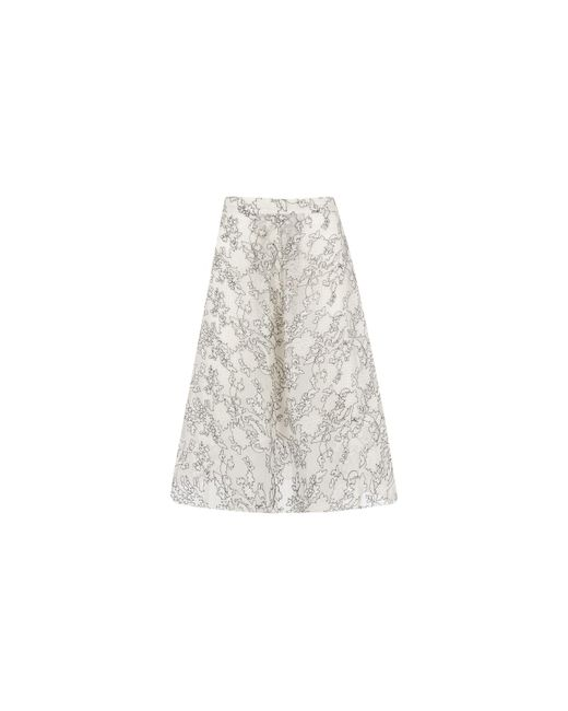 Whistles - White Marrion Full Lace Skirt - Lyst