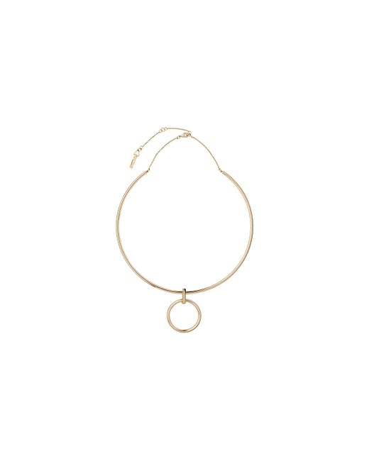 Whistles | Metallic Hung Hoop Necklace | Lyst