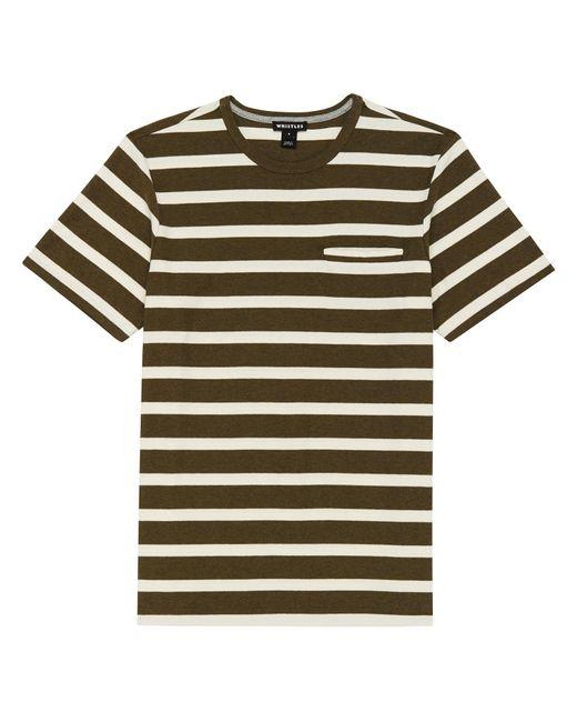 Whistles - Natural Wide Stripe T-shirt for Men - Lyst