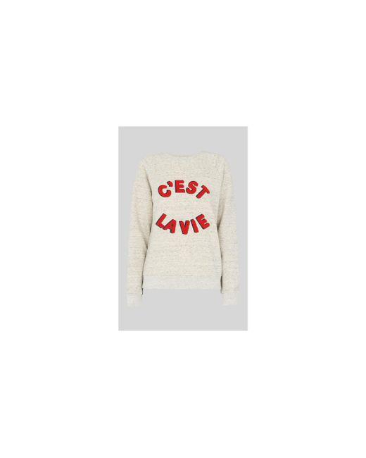 Whistles - Gray Cest La Vie Sweatshirt - Lyst