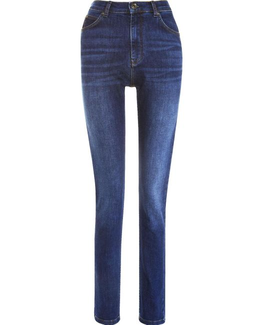 Whistles Blue Mid Wash Skinny Jeans