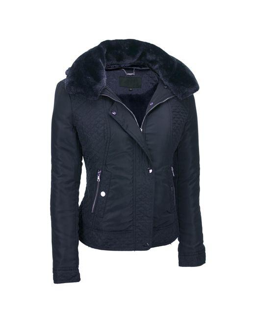 Wilsons Leather - Blue Web Buster Coalition La Satin Bomber W/split Faux-fur Hood - Lyst