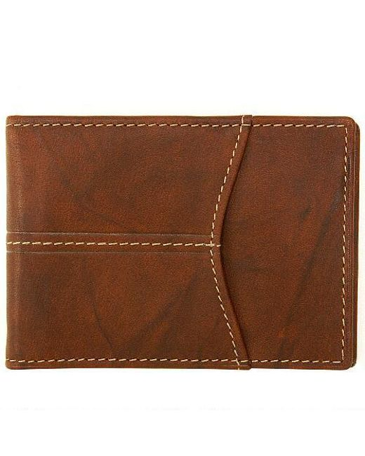 d29222c5478 Wilsons Leather - Brown Rustler Front Pocket Leather Wallet for Men - Lyst  ...
