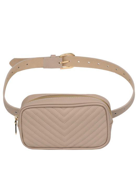 6ebfcf746fd Wilsons Leather - Brown Steve Madden Chevron Square Faux-leather Belt Bag -  Lyst ...