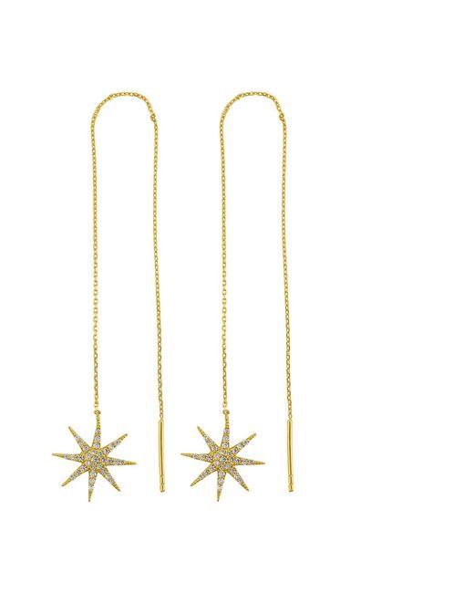 Talia Naomi | Metallic Supernova Chain Earrings | Lyst