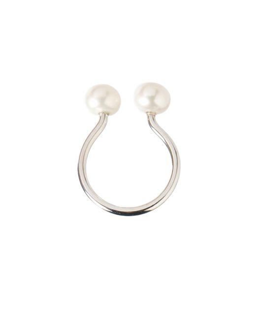 Dutch Basics - Metallic Silver Pearl Ring - Lyst