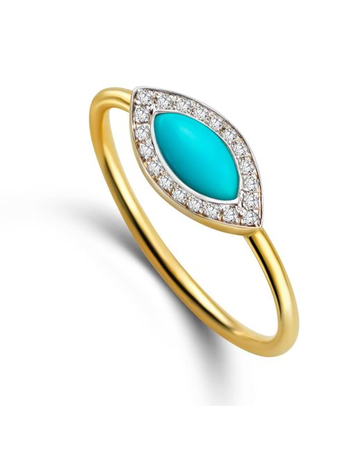 Elham and Issa Jewellery | Multicolor Awe Eye Diamond Ring | Lyst