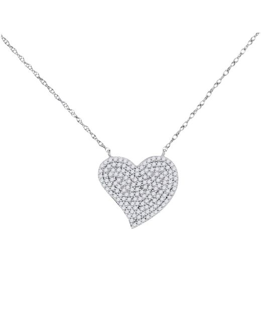 Cosanuova - Diamond Heart Cluster Necklace In 10k White Gold - Lyst