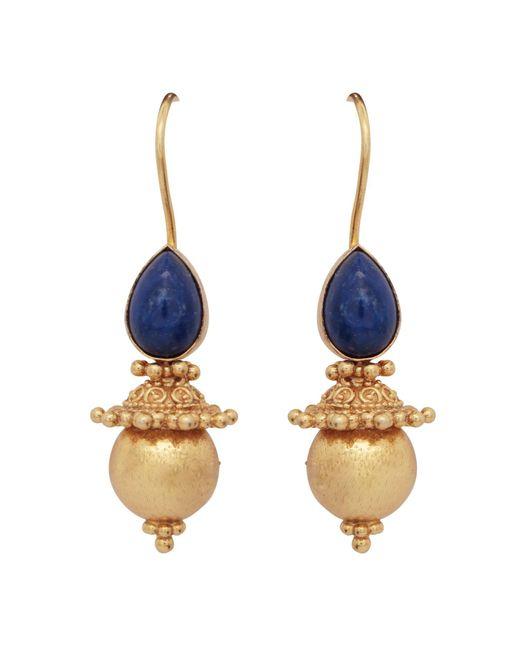 Carousel Jewels | Multicolor Lapis & Gold Sphere Earrings | Lyst