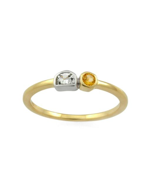 Monarc Jewellery | Metallic The Solar Luna Band 9ct Gold | Lyst