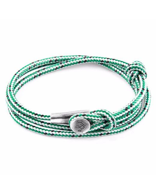 Anchor & Crew - White Fern Green Dundee Silver & Leather Bracelet for Men - Lyst