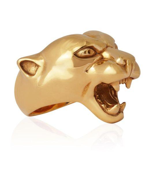 Strange Fruit - Metallic Panther Ring Gold - Lyst