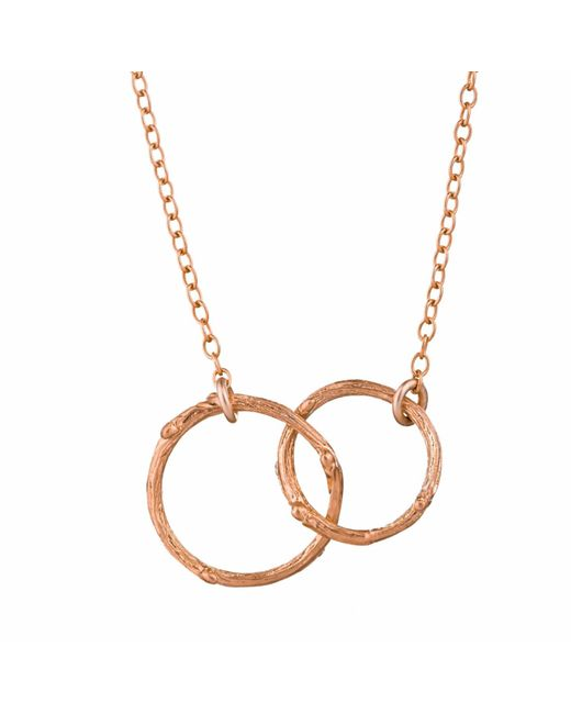 Chupi - Metallic Just The Two Of Us Hawthorn Twig Circle Necklace In Rose Gold - Lyst