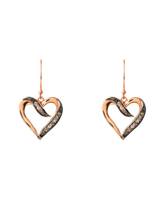 Latelita London Diamond Heart Stud Earrings Rose gold FMTap0vlp