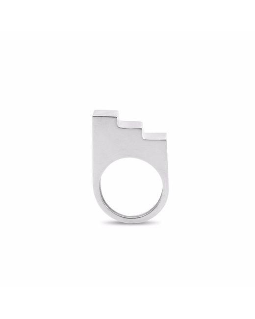 Nakibirango - London - Metallic Silver Step Ring - Lyst