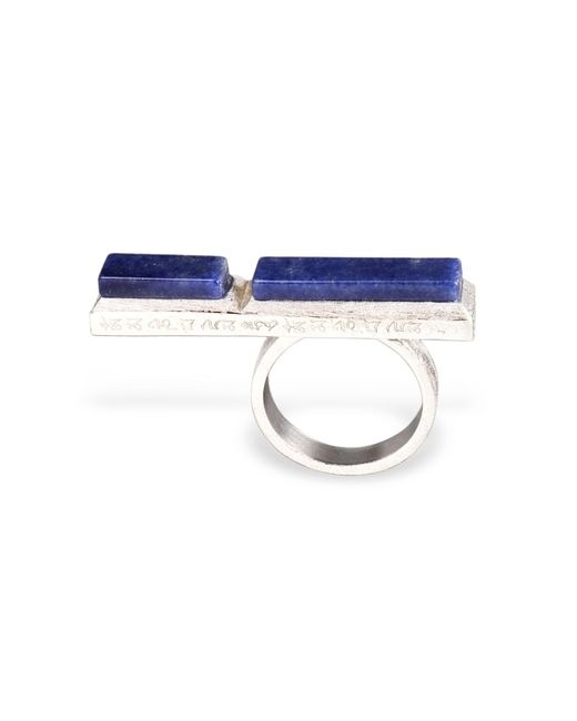 Ona Chan Jewelry | Metallic Long Rectangle Ring With Blue Quartz | Lyst
