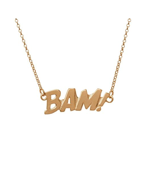 Edge Only - Metallic Bam Letters Necklace Large In Gold - Lyst