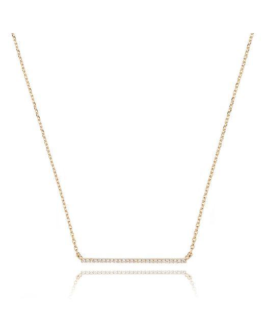 Astrid & Miyu - Metallic Walk The Line Big Bar Necklace In Gold - Lyst