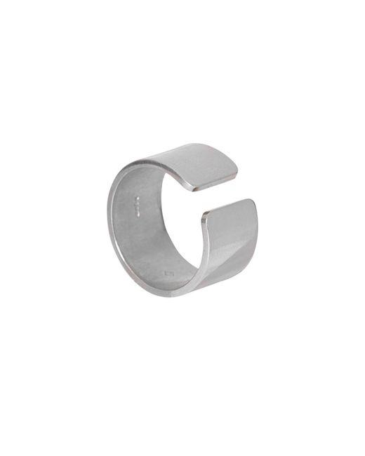 Edge Only - Metallic Gap Ring Men's Silver for Men - Lyst