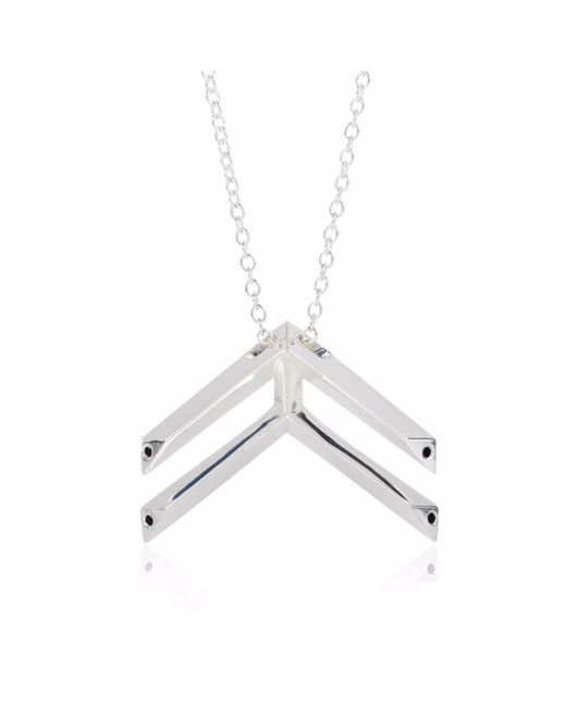 Sonal Bhaskaran | Metallic Pala Chevron Necklace Silver | Lyst