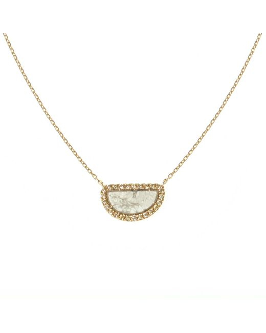 Ri Noor | Metallic Diamond Slice Necklace | Lyst