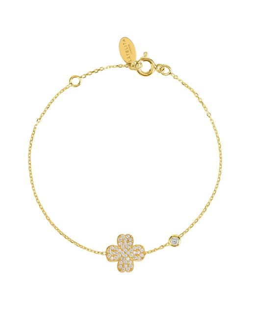 Latelita London - Metallic Lucky Clover Bracelet Gold - Lyst