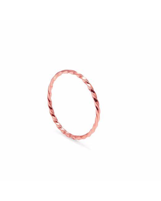 Myia Bonner - Metallic Rose Gold Skinny Twist Stacking Ring - Lyst